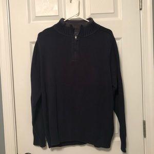Dockers Quarter Zip Navy Sweater